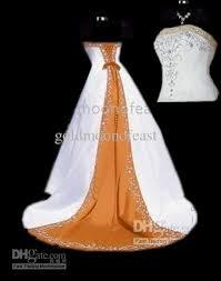 white dress wedding white and orange wedding dress 28 images orange and white
