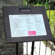 a creative way to display your restaurant s menu outdoors diy