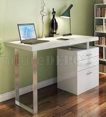 White High Gloss Office Desk Modern Office Desk By J M In White High Gloss