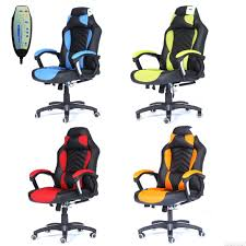 Luxury Leather Office Chairs Uk Foxhunter Luxury 6 Point Massage Office Computer Chair Reclining