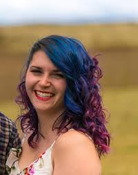 love the most recent iteration of my blurple hair 3 weeks 5