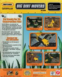 matchbox caterpillar big dirt movers 1999 windows box cover art