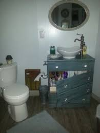 Refurbished Bathroom Vanity How To Make A Dresser Into A Bathroom Vanity The Nitty Gritty
