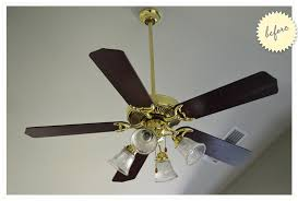 how to paint a ceiling fan a 12 ceiling fan redo wild ink press