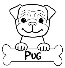 pug animal coloring pages exprimartdesign com