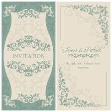 wedding invitations vector floral decorative wedding invitation vector cards 02
