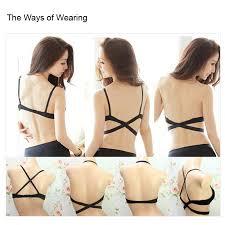 wholesale cross halter neck women push up bra 7 ways back