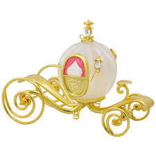disney cinderella s carriage glass and metal ornament keepsake