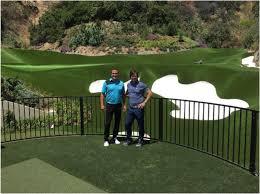 actor mark wahlberg installs amazing backyard synthetic turf golf