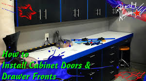 how to install cabinet door and drawer fronts youtube