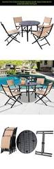 giantex 5 pcs patio outdoor folding chairs table furniture set