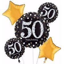 50th birthday balloons 50th birthday decorations party supplies 50 mylar 5 balloons