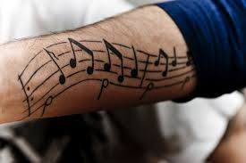 music notes tattoos for the music lovers