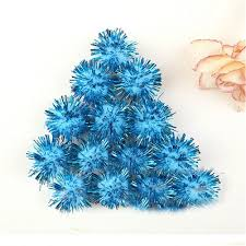 100pcs festival diy craft pompoms soft fluffy glitter balls felt