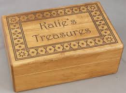 personalized engraved wooden box 5 x 8 x 3