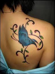 butterfly on back shoulder tattoos book 65 000