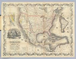 Map Of The United States And Mexico by Map Of The United States The British Provinces Mexico U0026c David