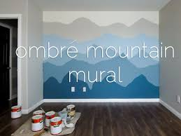 ombre mountains mural time lapse youtube