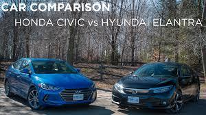 honda car comparison car comparison honda civic vs hyundai elantra driving ca