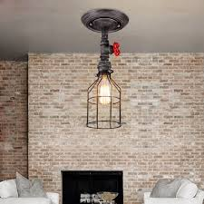 industrial hanging light fixtures catchy vintage ceiling lights industrial semi flush mount stylish