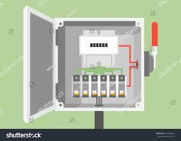 breakers switch vector flat fuse vector stock vector 410540332