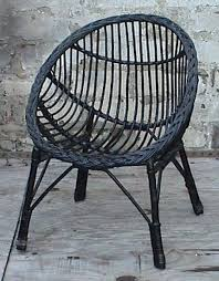 wicker chair for bedroom vintage retro home round child s childs cane wicker bedroom chair