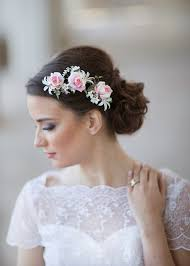 bridal hair pieces flower hair pieces for wedding pink wedding flower bridal hair
