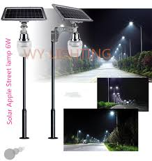 Outdoor Lighting Light Sensor 6w Solar Powered Led Light With 10w Solar Panel Intergrated