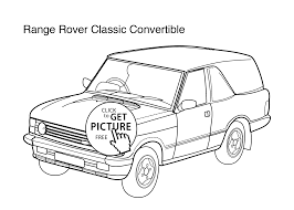 car range rover classic convertible coloring page for kids