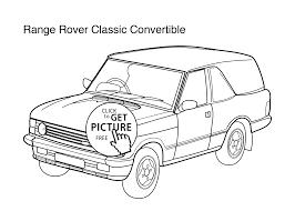 car range rover classic convertible coloring kids