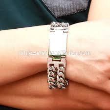 stainless mens bracelet images Heavy curb chain mens bracelet stainless steel wide men bracelet jpg
