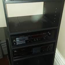 Stereo Cabinets With Glass Doors Find More Black Stereo Stand Cabinet With 4 Shelves And Glass Door