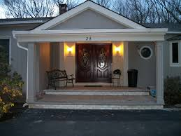 Porch Vs Portico by Front Entry Portico In Scotch Plains Nj
