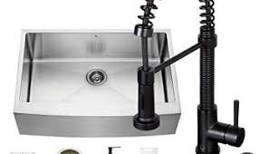 Vigo Stainless Steel Faucet Vigo 30 Inch Farmhouse Apron Single Bowl Matte Stone Kitchen Sink