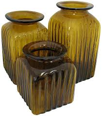 blown glass canisters collection grape leaf kitchen canister
