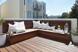 Decks With Benches Built In Built In Bench Design Ideas