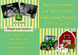 deere baby shower deere farm baby shower invitation