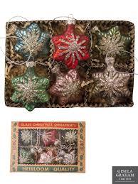 gisela graham glass christmas tree decoration set mini baubles