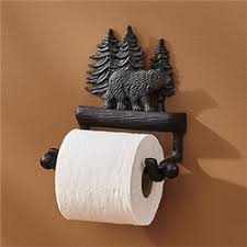 rustic cabin bath toilet paper holder