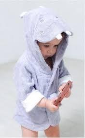 robe de chambre bébé peignoir sortie de bain animaux pour bébé robe de chambre hippo