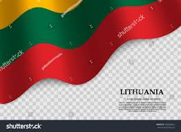 Flag Of Lithuania Picture Waving Flag Lithuania On Transparent Background Stock Vector