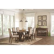 buy bridgeport rustic craftsman base dining table by coaster from