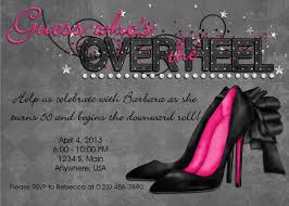 turning 60 party ideas the hill invitation black pink bling the heel custom