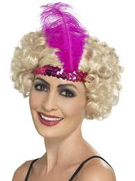 flapper headband products pink flapper headband the costume corner fancy dress