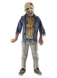 Zombie Boy Halloween Costume Walking Dead Rotting Zombie Kids Costume