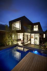 outdoor swimming pool design contemporary enclave house cool in by