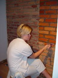 creating our home office part 3 exposed brick treatment old