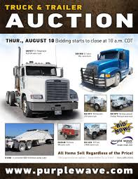 volvo semi for sale sold august 10 truck and trailer auction purplewave inc
