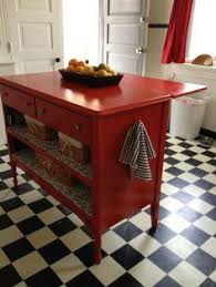 moving kitchen island turned an dresser into a kitchen island added a leaf by