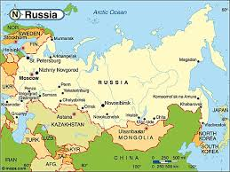 map of the countries destination russia travel and tourist information map of russia